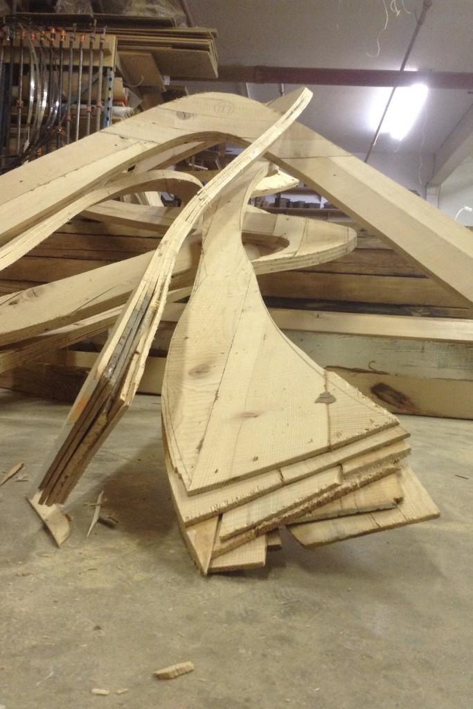 QnA Design Cloud laminated wood 03 Stack