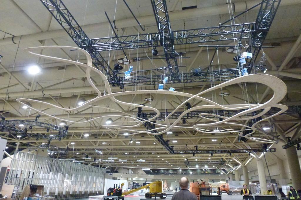 QnA Design Cloud laminated wood 09 install