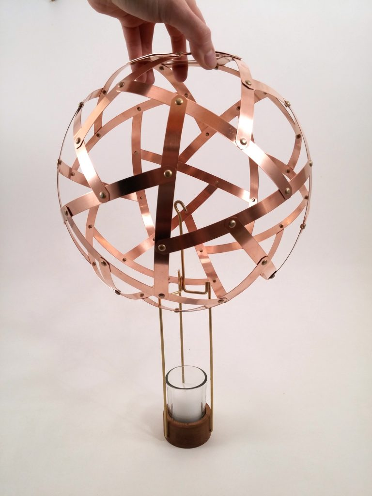 QnADesign Rotegrity Copper Hanging Lantern 1