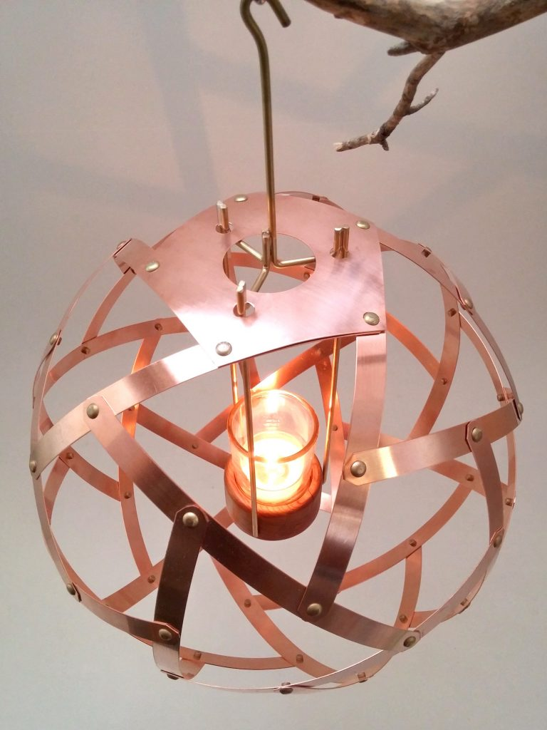 QnADesign Rotegrity Copper Hanging Lantern Top