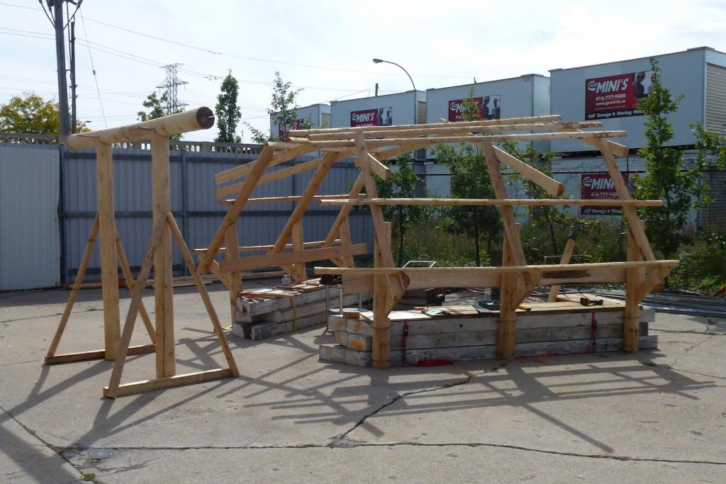 QnA Design Nuit Blanche Primal hug Heated bench Warming hut 08 work in progress