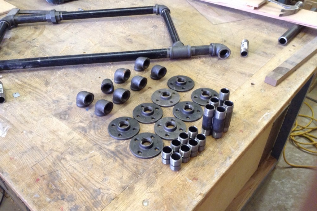 QnA Design Blundstone shoe rack 02 gas pipes