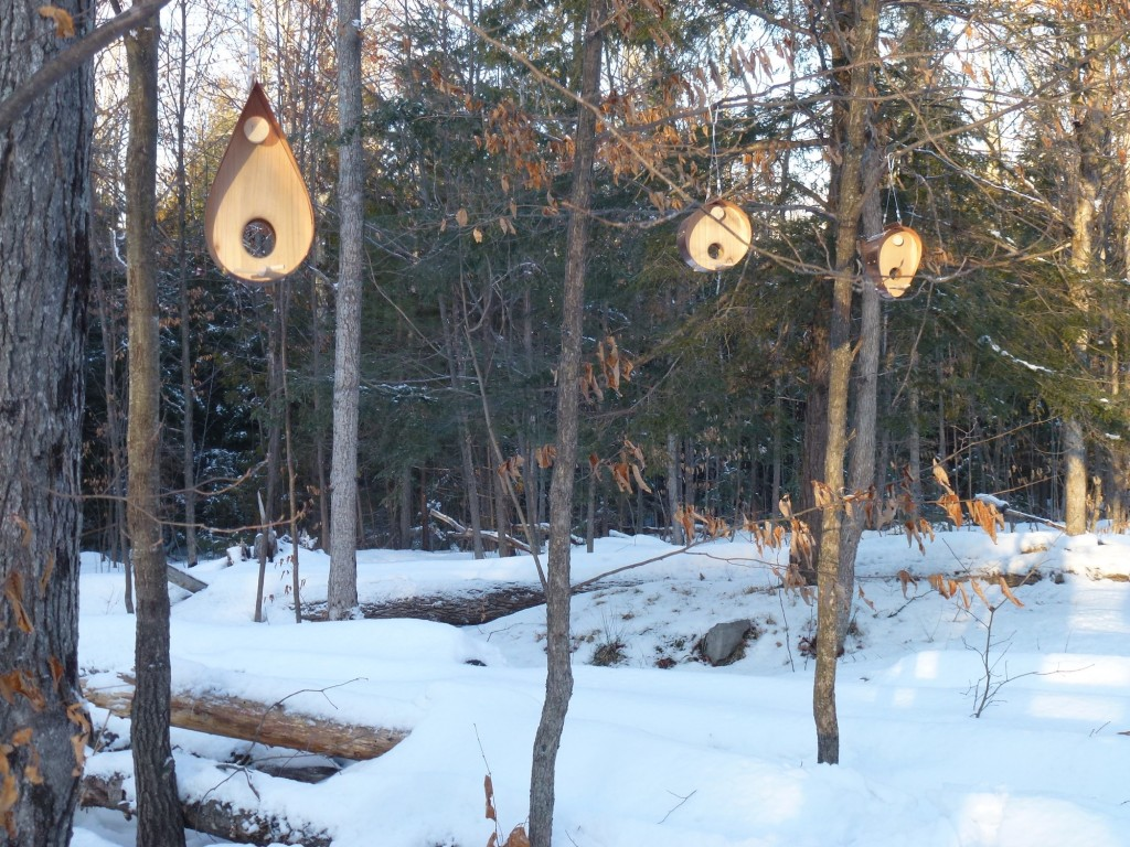 QnA Design Bird Feeder Copper Cedar 01 family picture overall