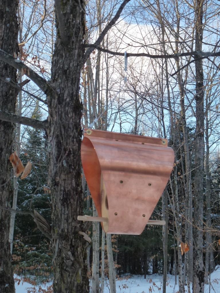 QnA Design Bird Feeder Copper Cedar 10 Bonnet