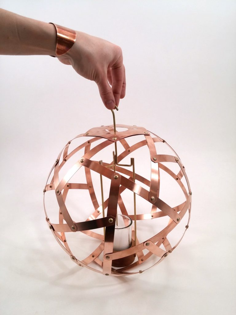 QnADesign Rotegrity Copper Hanging Lantern 2