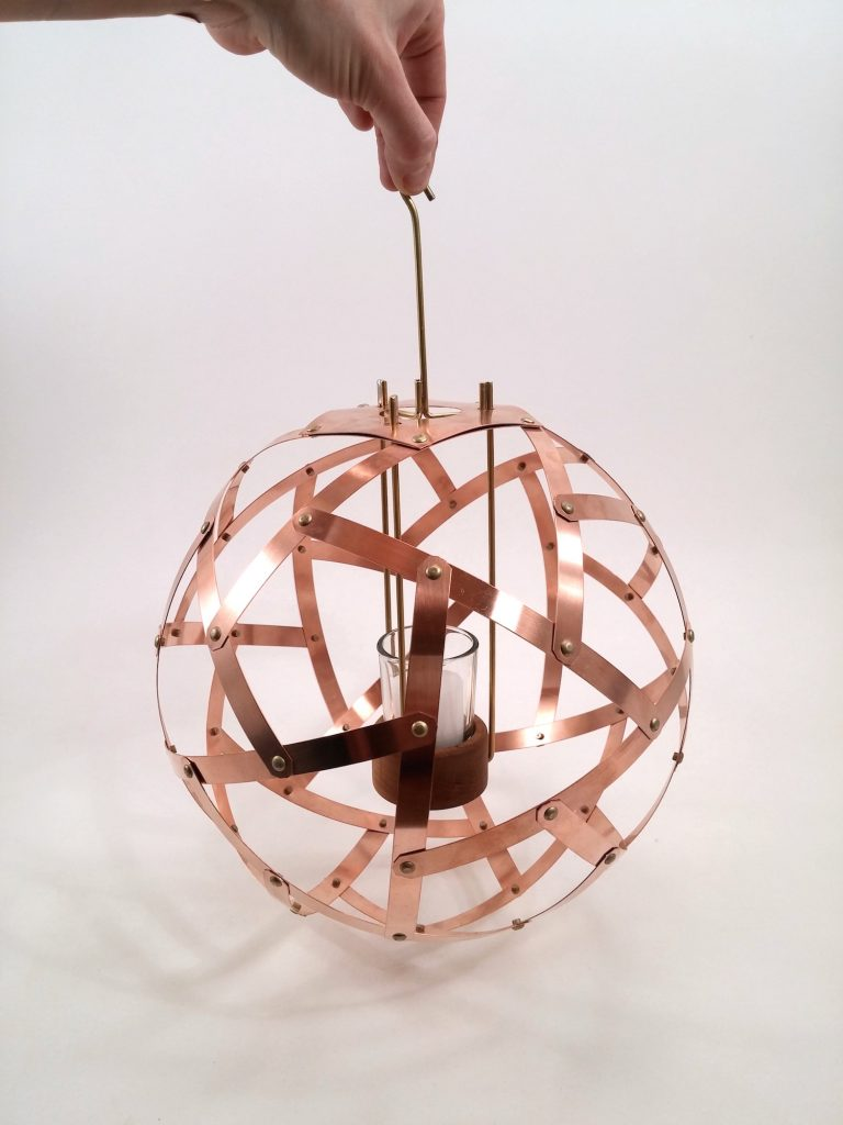 QnADesign Rotegrity Copper Hanging Lantern 3