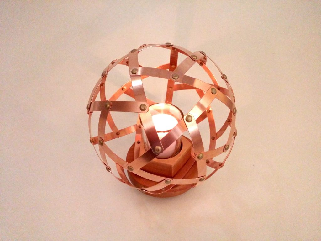 QnADesign Rotegrity Copper Table Lantern